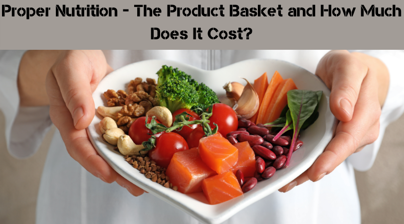 Proper Nutrition - The Product Basket and How Much Does It Cost